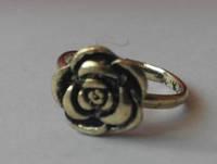 Кольцо Цветок, безразмерное, цвет бронза, винтаж