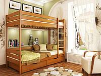 """Двухъярусная кровать """"Крак"""" из массива"""