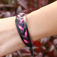 Плетеный браслет, разные цвета, кожа, наличие