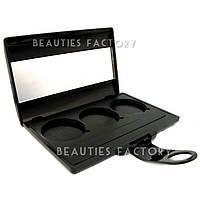 Пустой пан для теней с зеркалом 3 цвета Beauties Factory Empty Eyeshadow Case (Style A)