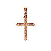 [30/18] Кулон Gold Крестик со стразами
