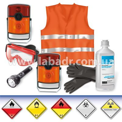 ADR-комплект для опасных грузов, которым присвоены знаки опасности № 4.2, 5.1, 5.2, 6.2 или 7