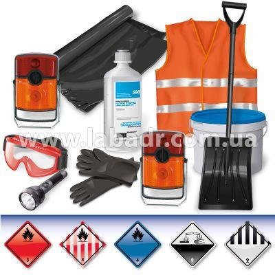 ADR-комплект для опасных грузов, которым присвоены знаки опасности № 3, 4.1, 4.3, 8 или 9 - Лаборатория ADR в Киеве