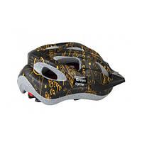 Шлем детский Green Cycle FAST FIVE р.50-56см черно-золотистый
