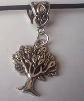 Кулон - подвеска амулет Дерево жизни 1, цвет серебро + шнурок