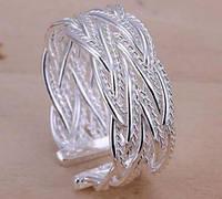 Кольцо Стелла Скай, покрытие 925 серебро, безразмерное