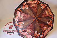 Зонт от дождя женский полуавтомат Розы