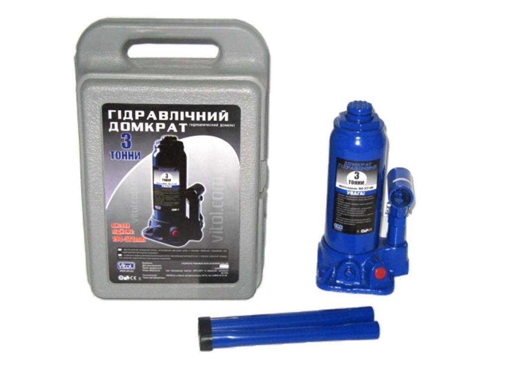 Домкрат гидравличесский бутылка 3т чемодан Т90304S