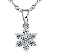 Цепочка и кулон Цветок, покр. белое золото серебро
