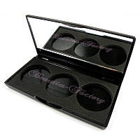 Пустой пан для теней с зеркалом 3 цвета Beauties Factory Empty Eyeshadow Case (with mirror)