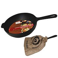 Сковородка чугунная литая с металической ручкой 24см,h-6см Toscana 99012