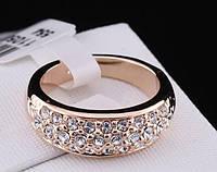 Кольцо ROXI позолота, покрытие розовое 18К золото, р. 17, 18