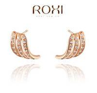 Серьги Три Грации, позолота, покрытие розовое 18К золото, ROXI