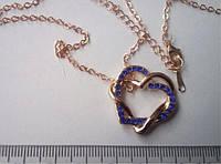 Любящие Сердца, позолота, покрытие розовое 18К золото