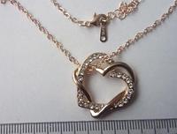 Любящие Сердца, позолота, покрытие 585 розовое 18К золото.