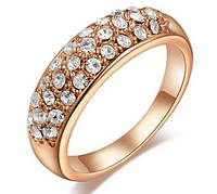 Кольцо позолоченое, покр 585 золото 18К, р 17, 18!