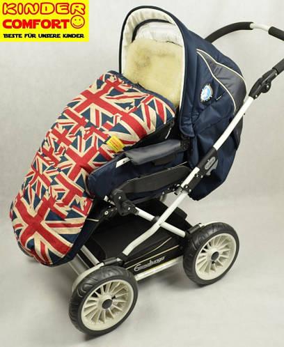 Конверт в коляску на овчине Drive Fashion, Kinder Comfort