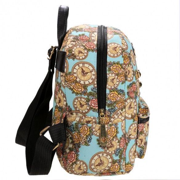повседневный женский рюкзак часики