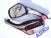 Зеркала капля бардовые красные с поворотом