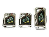 Накладки на педали KK-113 silver (парусник)