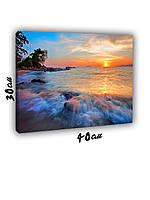 Картина на холсте 30х40см Закат