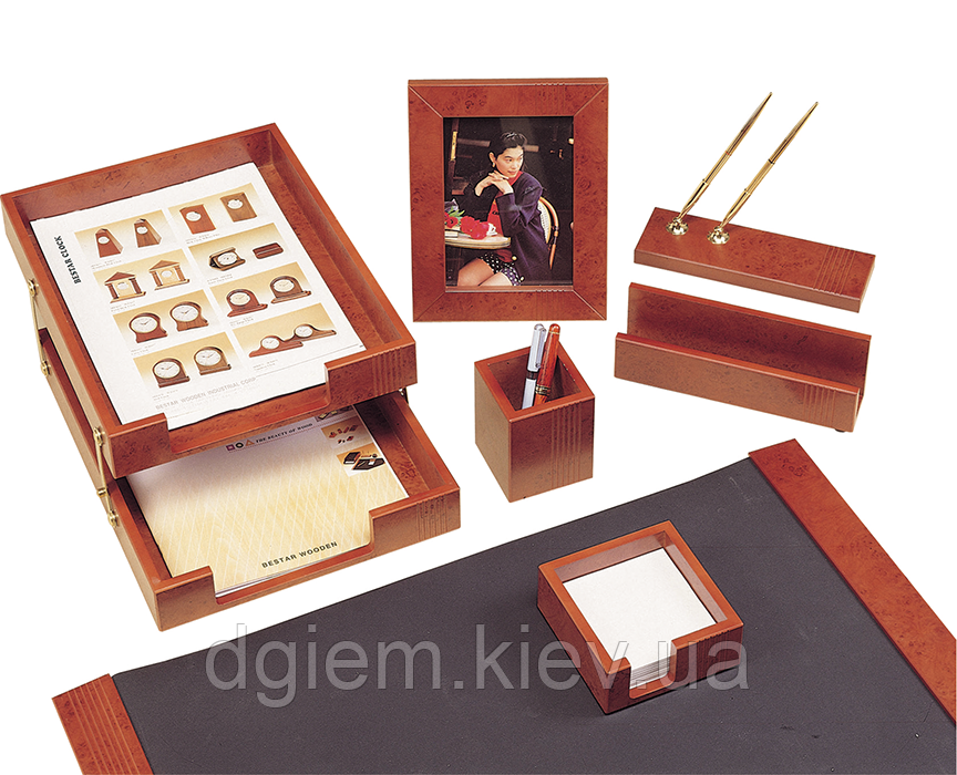 """Настольный набор деревянный 7 предметов """"светлая вишня"""""""