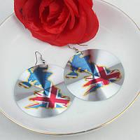 """Серьги-флаги """"Британия"""" 70361"""