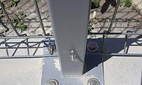 Столб оцинкованный на анкерное крепление 58х38х1.5мм 1.1м