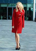 Пальто демисезонное женское красное 42-44р