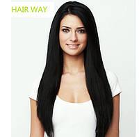 Натуральные Волосы на заколках  1color Трессы  Наращивание