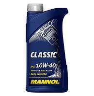 Масло моторное Mannol 10W-40 Classic полусинтетическое 1л