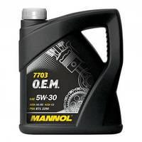 Масло моторное Mannol 5W-30 7703 O.E.M. синтетическое 4л