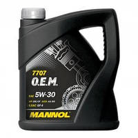 Масло моторное Mannol 5W-30 7707 O.E.M. синтетическое 4л
