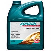 Масло моторное Addinol 10W-40 Semi Synth полусинтетическое 5л