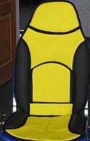 Накидка на сидение F-14061 C высокая черн.-желтая