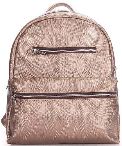 Практичный женский рюкзак на 4 л  POOLPARTY mini-bckpck-snake-gold