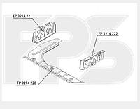 Защита двигателя левая,пластмас на Hyundai Accent,Хундай Акцент 06-10