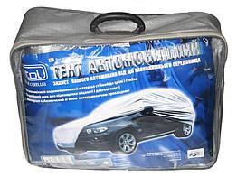 Тент на машину с подкладкой JС 13401-XL джип/минивен серый с подкладкой PEVA+PP Cotton 482х196х145