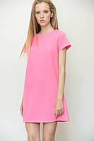 Нежное женское короткое платье розового цвета