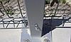 Столб оцинкованный на анкерное крепление 58х38х1.5мм 1.3м