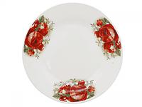 Тарелка подставная 9 '802 Роза красная ST 3081