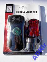 Вело фара фонарь + Стоп + Батарейки + Крепления