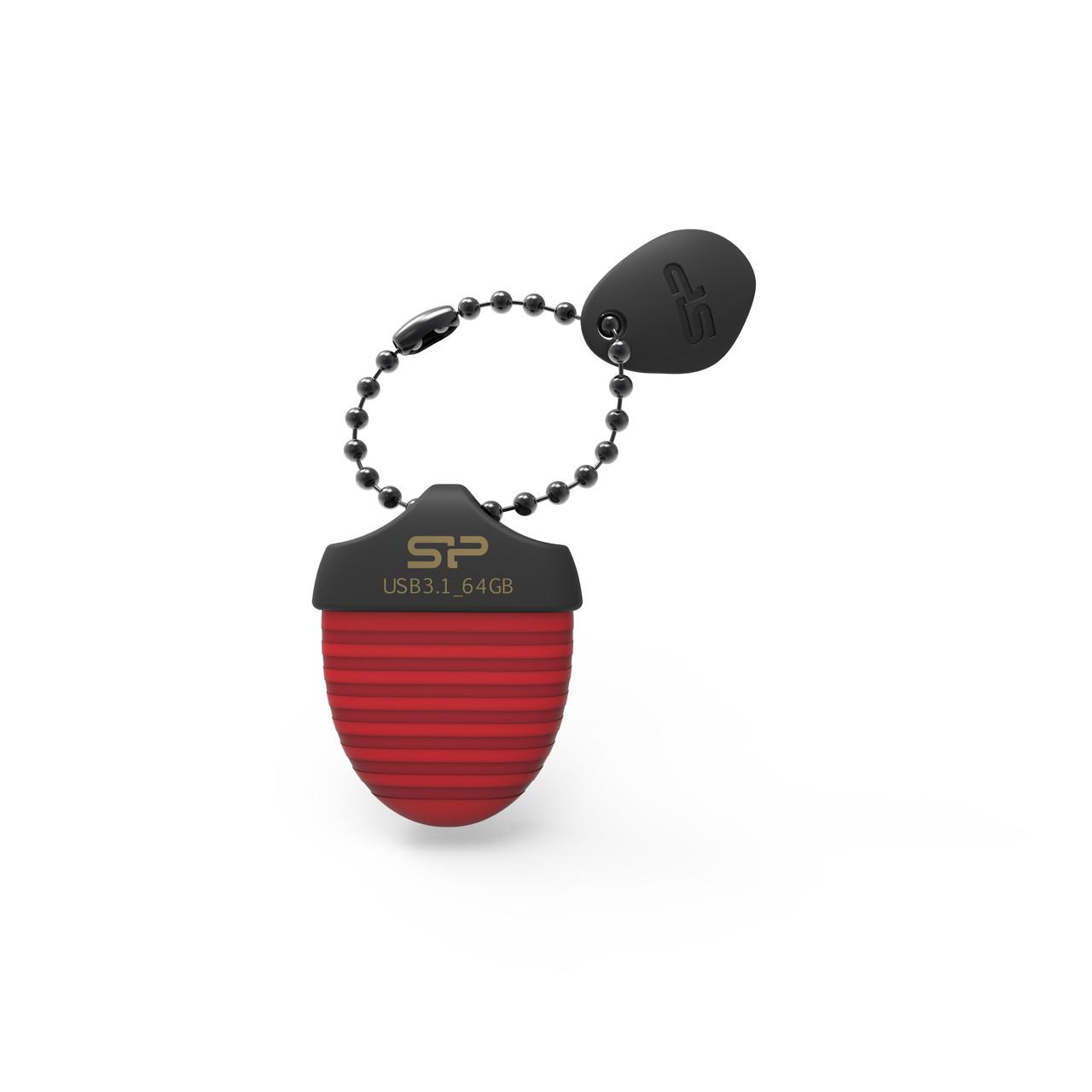 Флешка USB 3.1 SiliconPower Jewel J30 64Gb Red