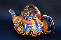 Чайник тыква резка орнамент