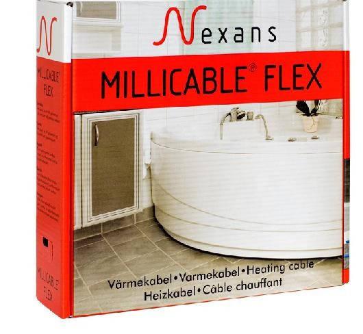 Теплый  пол  без  стяжки  под  ламинат, кафель 2,5 - 3,5 м.кв. 450 Вт. Тонкий кабель Nexans. Гарантия 20 лет.