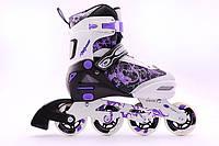 Раздвижные роликовые коньки NRG TB-12A XS фиолетовые