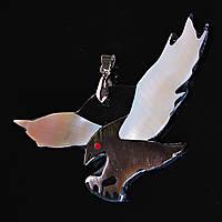 Кулон подвеска Орел Перламутр[75/35 мм]