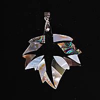 Кулон подвеска Лист Космос Перламутр Халиотис