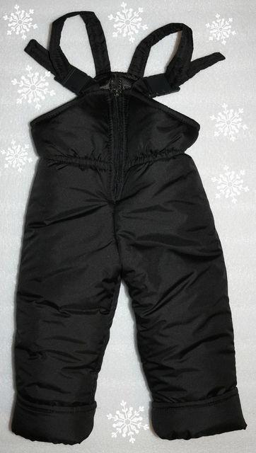 Теплый зимний детский  полу-комбинезон  для девочек и для мальчиков на 1,2,3,4