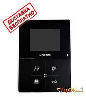 Видеодомофон Kocom KCV-401EV (black) в черном цвете